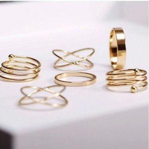 Spiral Midi Ring Set